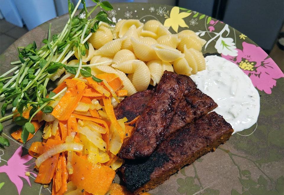 lättlagad vegansk middag